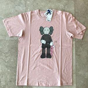 Uniqlo x Kaws pink short sleeve t-shirt